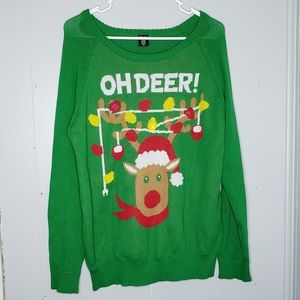 Oh Deer Light Up Ugly Christmas Sweater
